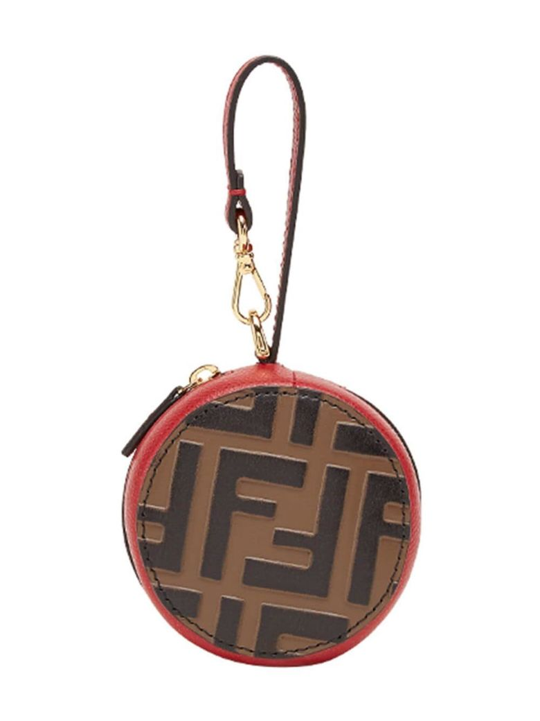Fendi Ff Logo Bag Charm - Vj Maya+nero