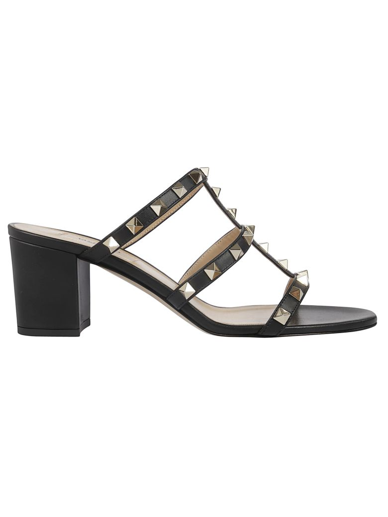Valentino Rockstud Sandals - 0no Nero