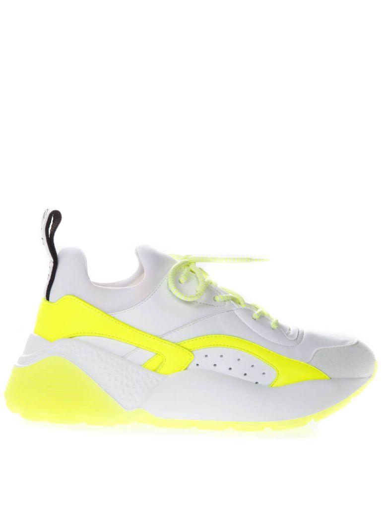 Stella McCartney Eclypse White Faux Leather Sneaker - White/fluo
