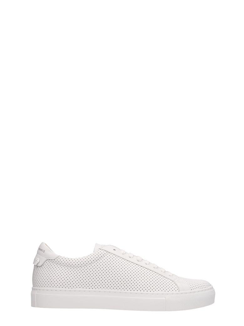 Givenchy Urban Street White Leather Sneakers - white