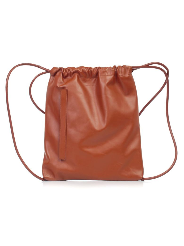SEMICOUTURE Erika Cavallini Fabienne Bucket Bag - Tan