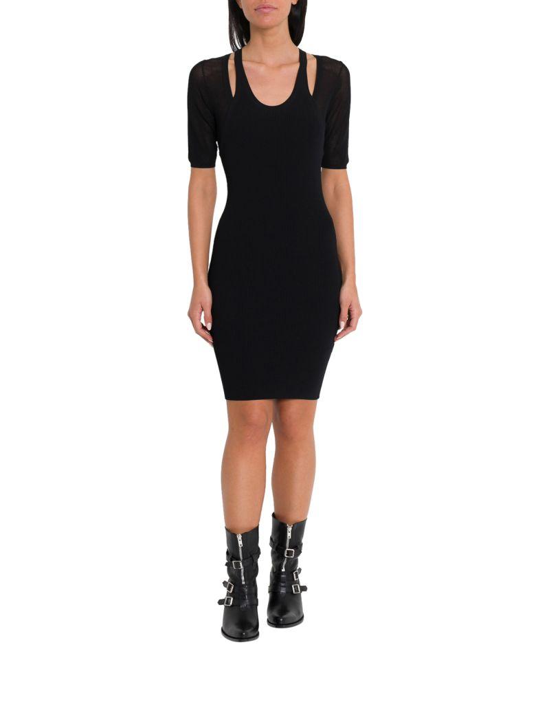 T by Alexander Wang Mesh Layering Dress - Black