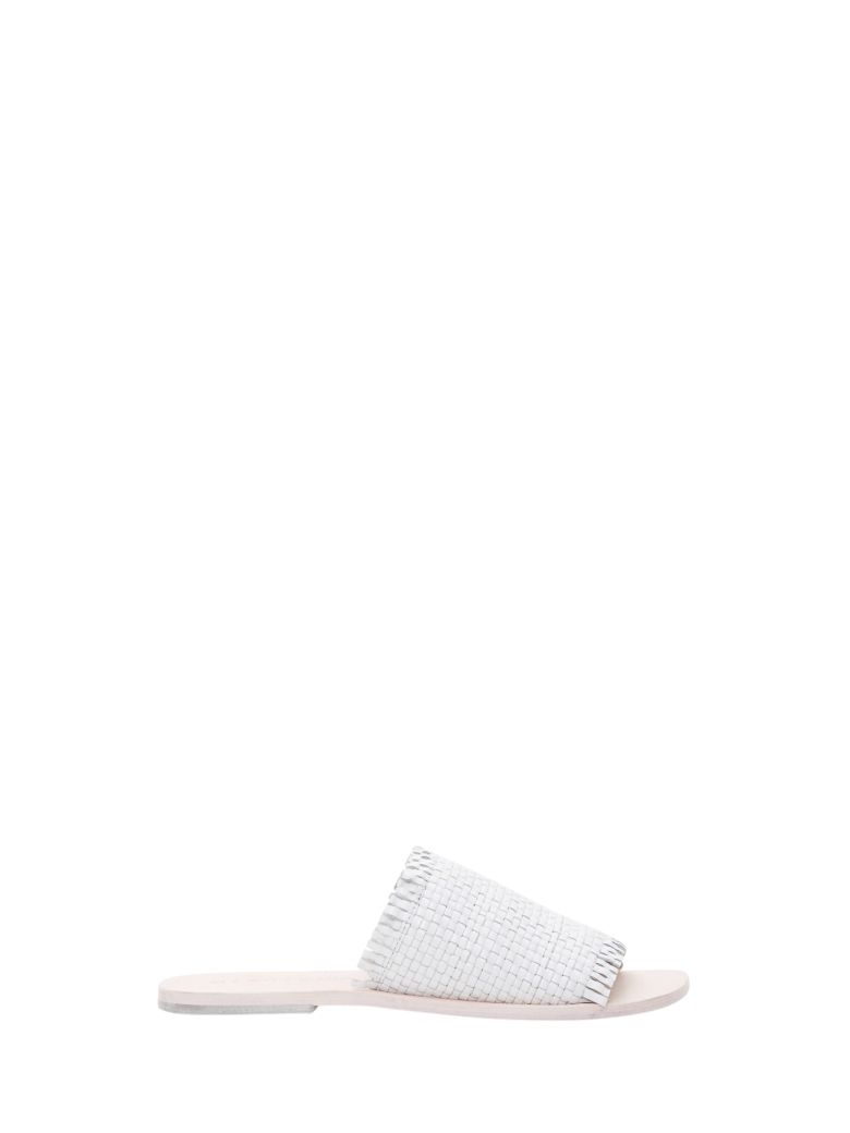 Strategia Leather Slide - White
