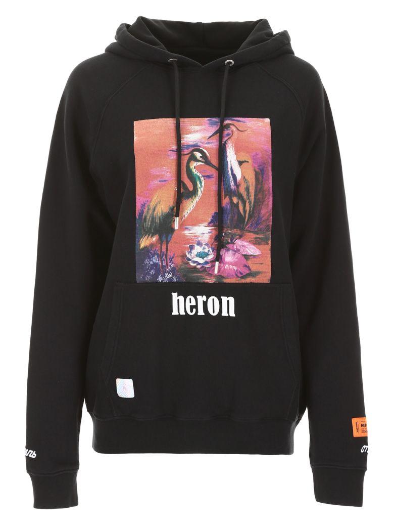 HERON PRESTON Heron Birds Oversized Hoodie - BLACK MULTI (Black)