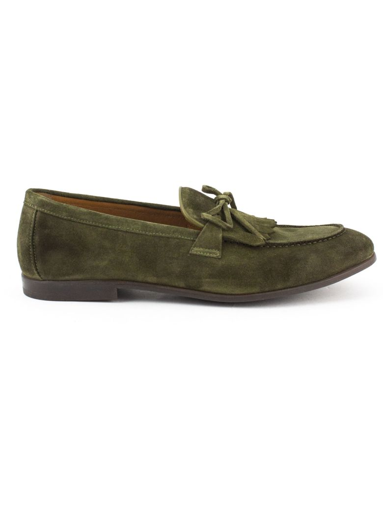 Doucal's Sage-tone Suede Loafer - Salvia