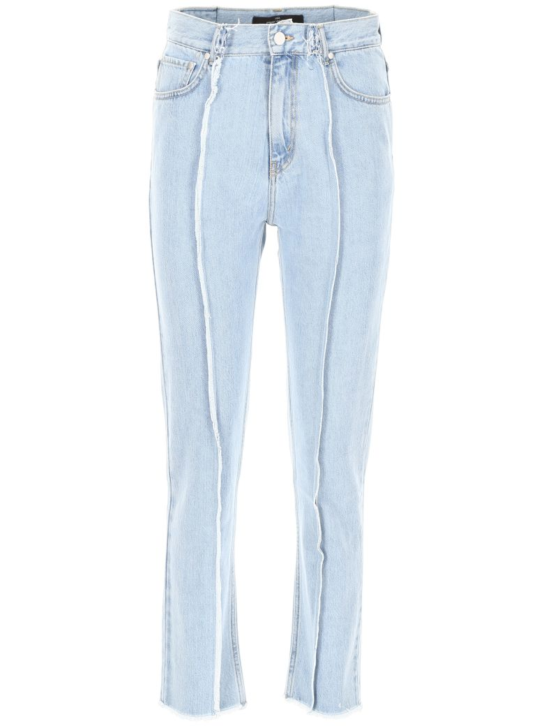 Rokh Jeans With Stitches - LIGHT BLUE (Light blue)