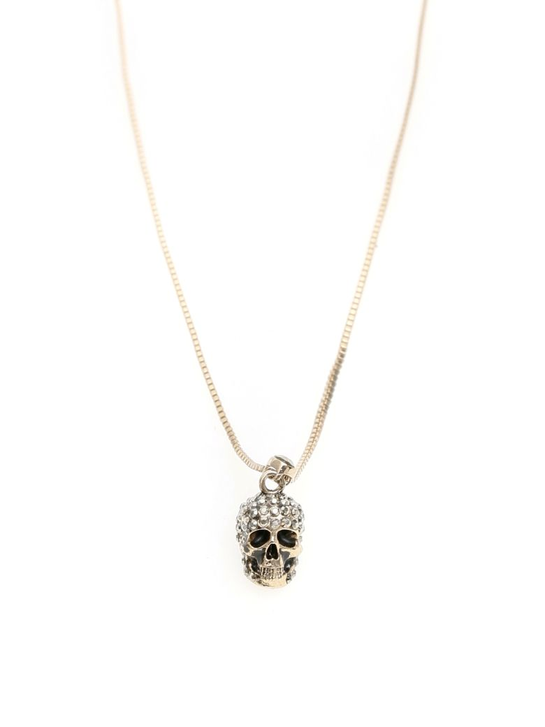 Alexander McQueen Pave Skull Necklace - MIX (Gold)