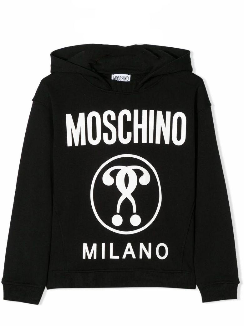 Moschino Black Cotton Hoodie - Nero