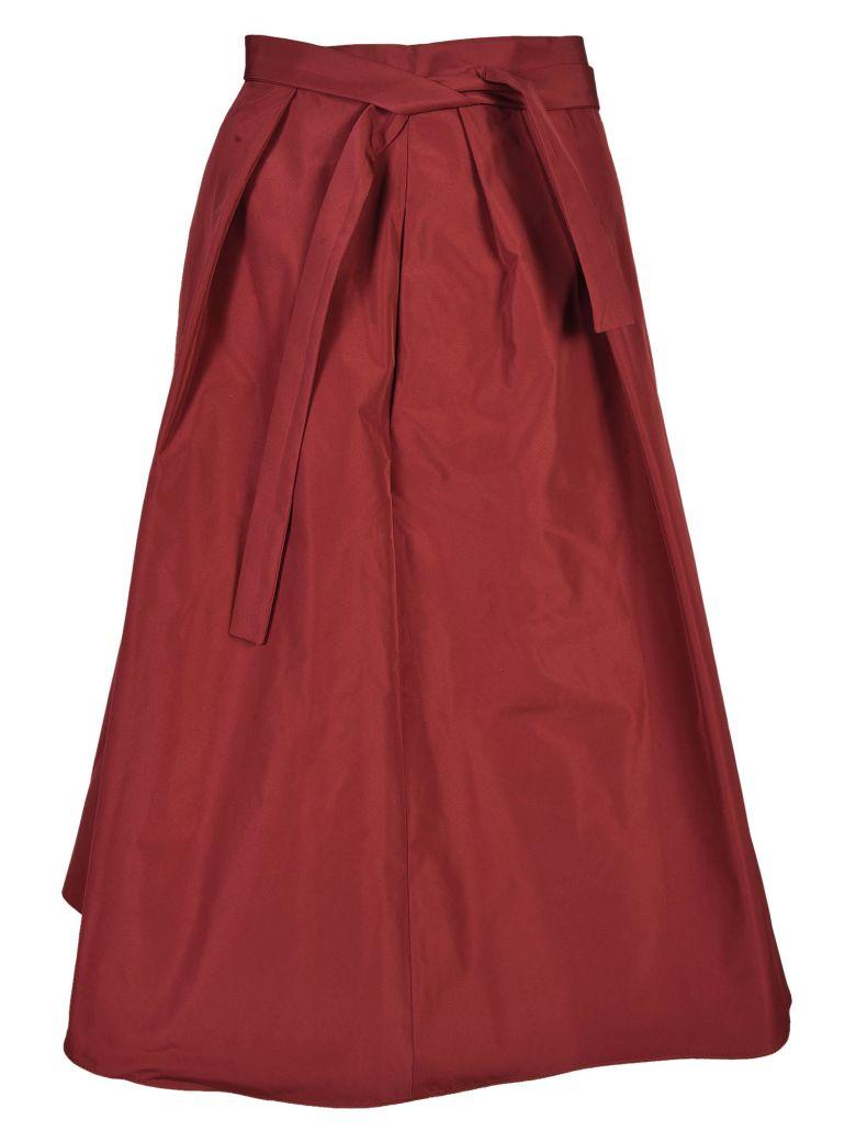 Jil Sander Navy Self-Tie Skirt - Red