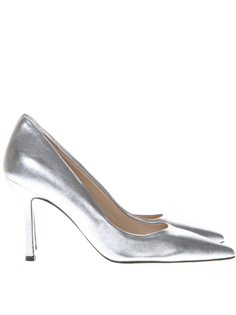 Marc Ellis Laminate Silver Leather Pumps - Silver