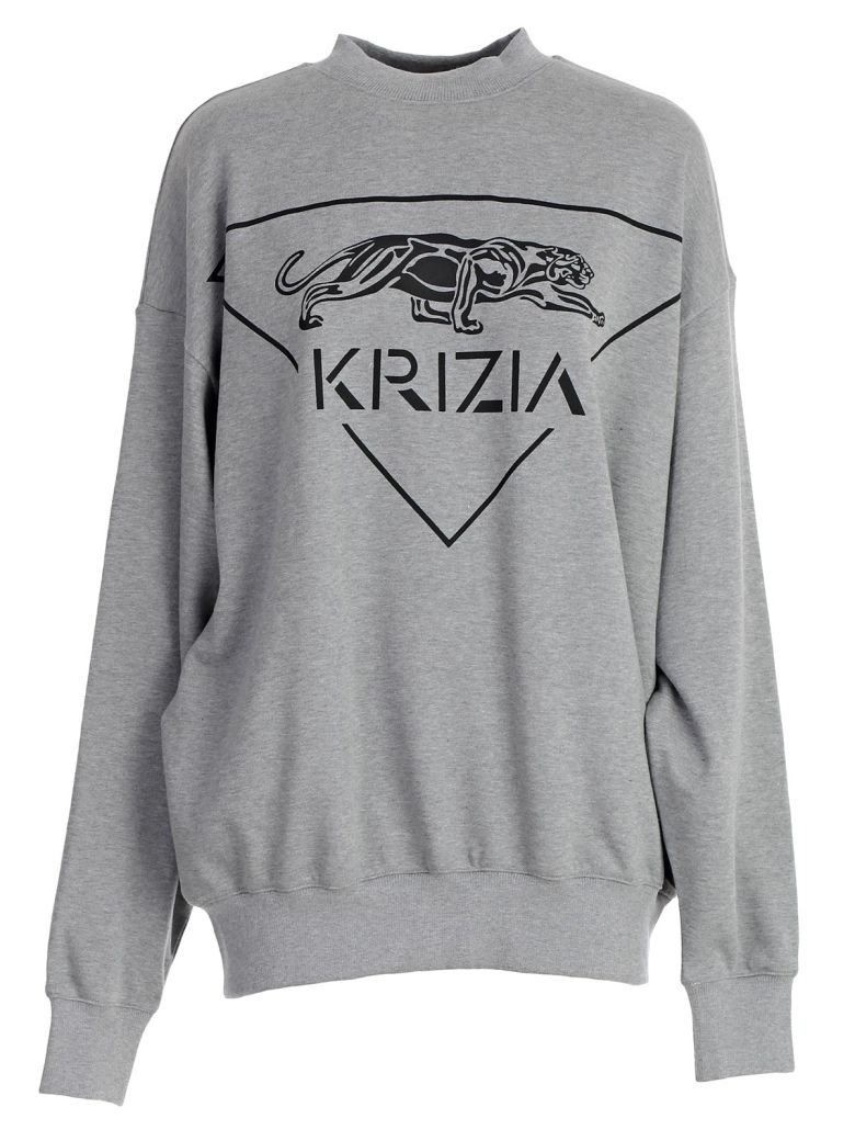 Krizia Printed Sweatshirt - Grey