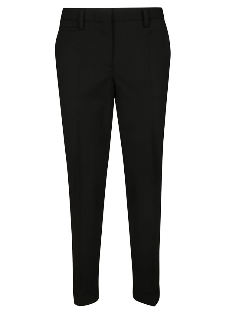 Brag-Wette Slim Fit Cropped Trousers - Nero