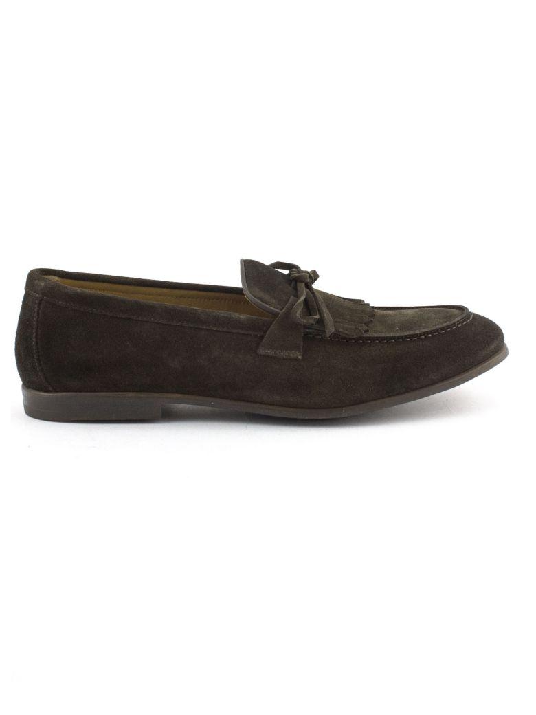 Doucal's Brown Suede Loafer - Testa Di Moro