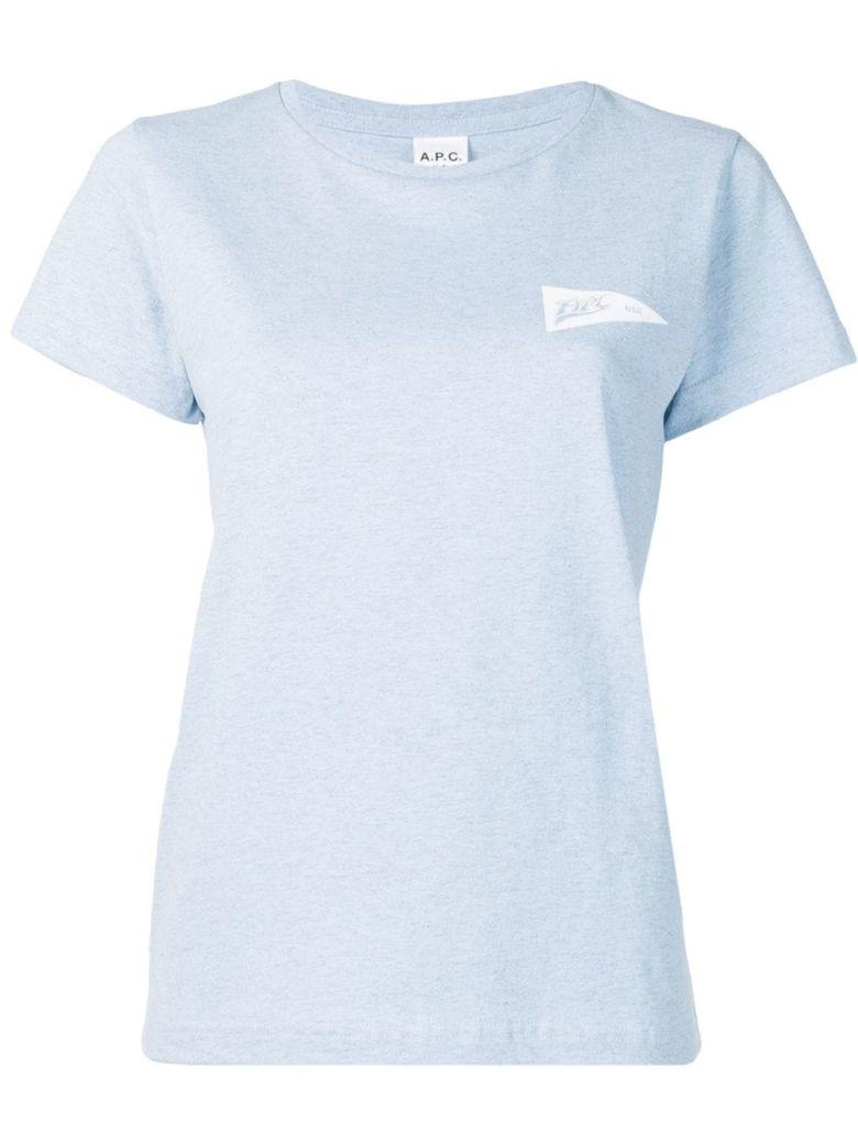A.P.C. Printed T-shirt - Iaa Bleu