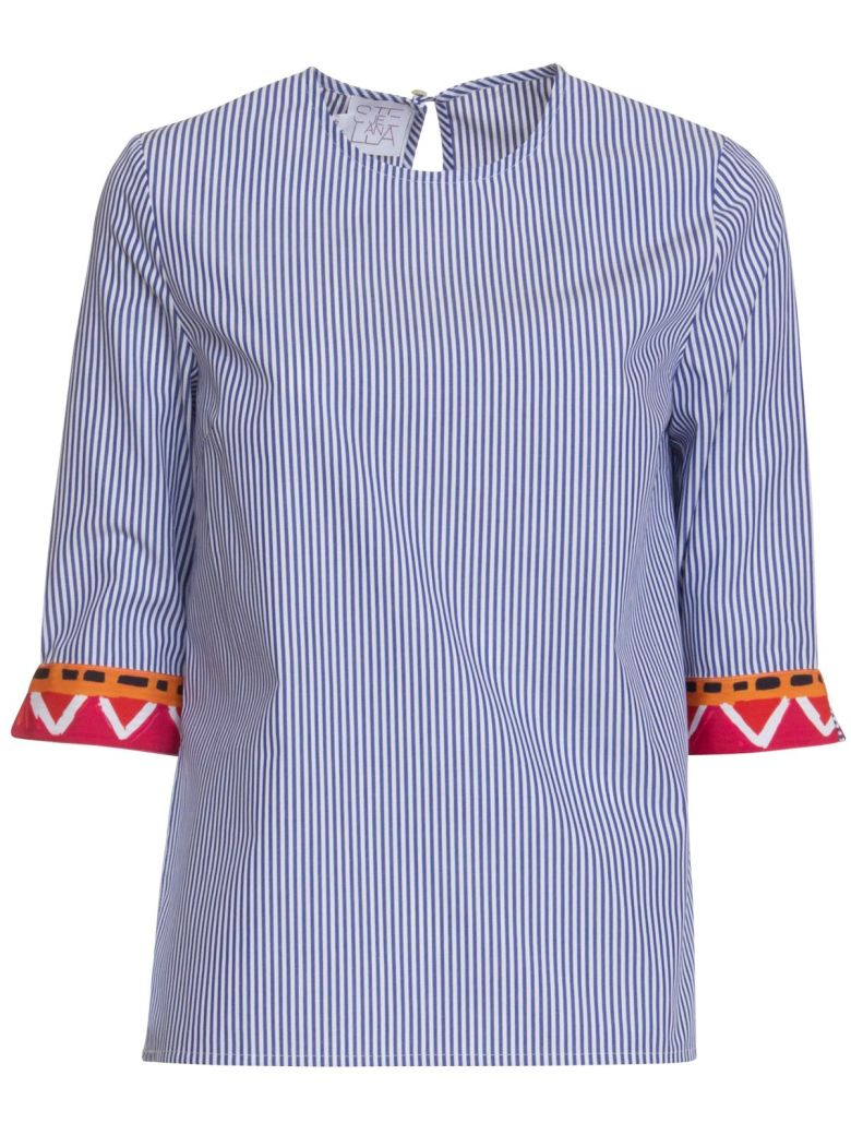 Stella Jean Cotton Shirt - BLU