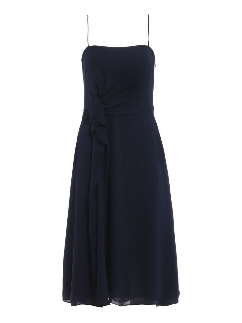 Emporio Armani Gathered Waist Dress - Purple