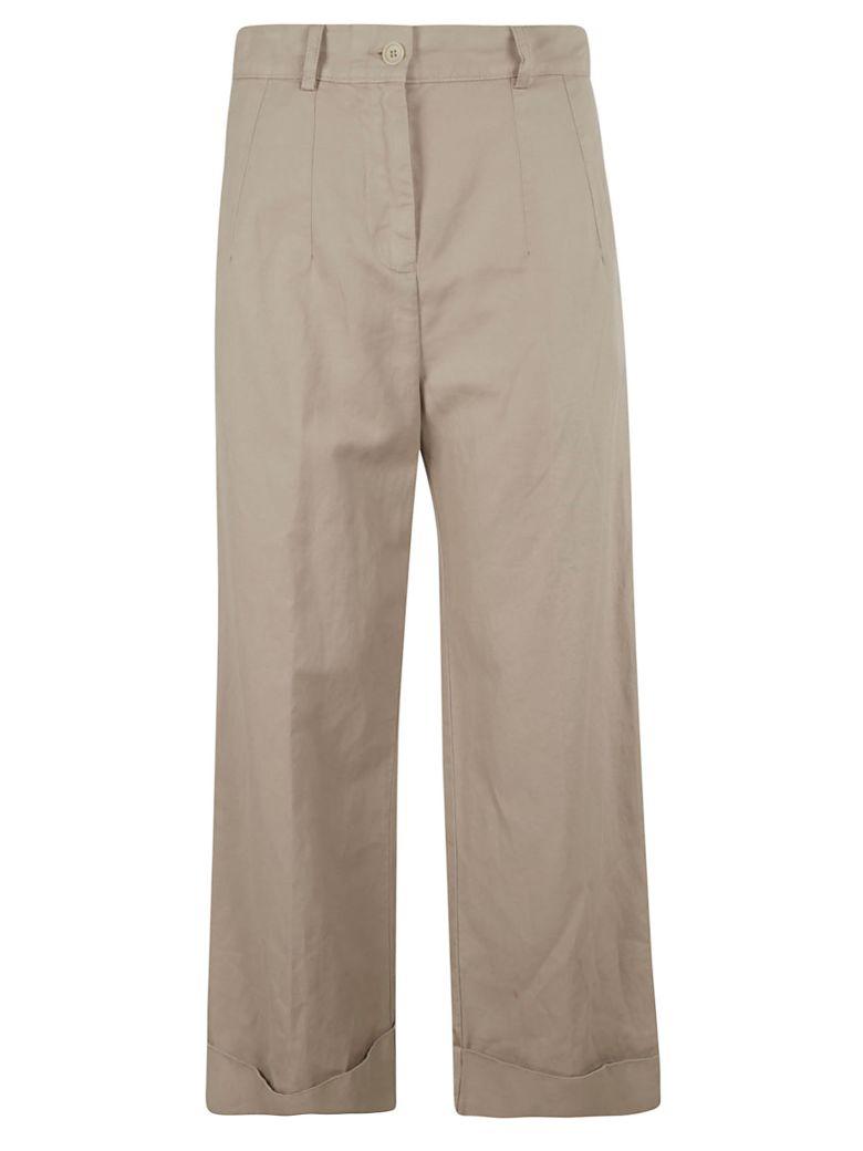 Aspesi High-waisted Trousers - Beige