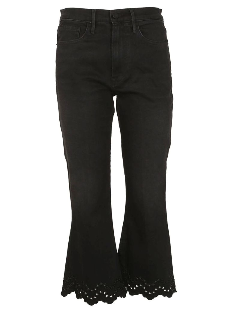 Frame Flared Cropped Jeans - Nero lavato