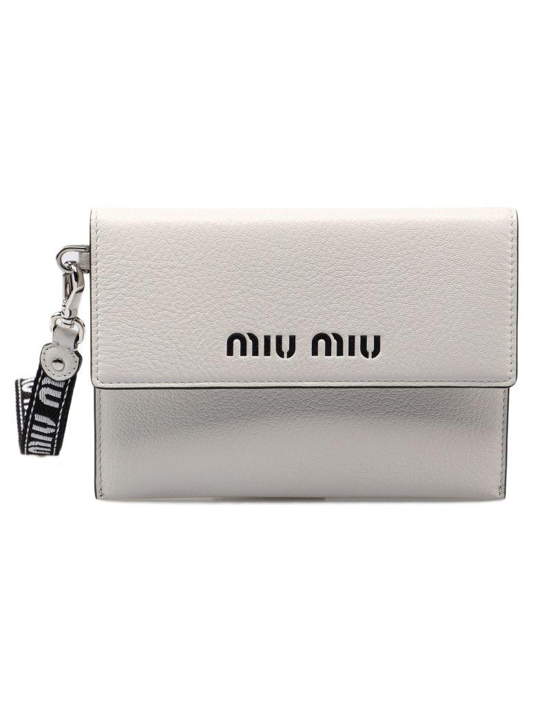 Miu Miu Logo Envelope Wallet - Bianco