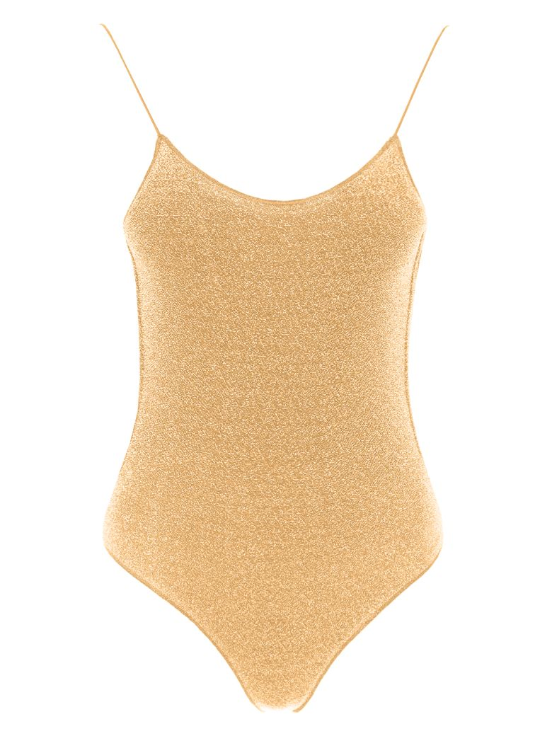 Oseree Lurex Swimsuit - GOLD (Gold)