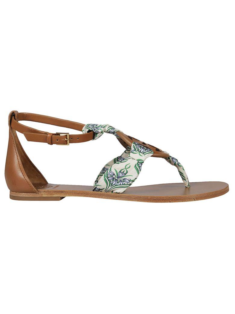 Tory Burch Scarf Detail Flat Sandals - Basic