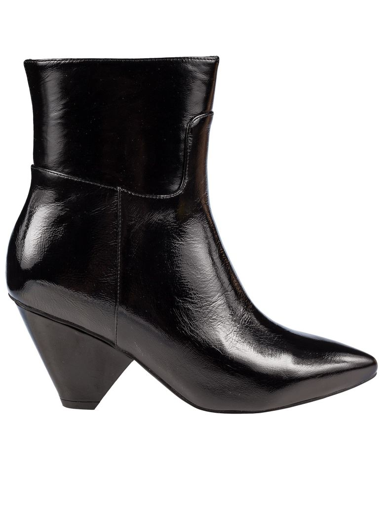 Jeffrey Campbell Side Zip Ankle Boots - Black