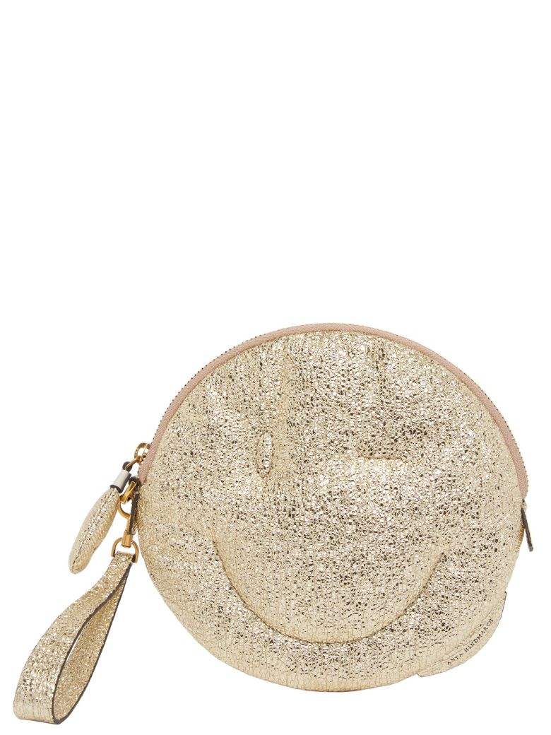 Anya Hindmarch 'chubby Wink Smiley' Bag - Gold