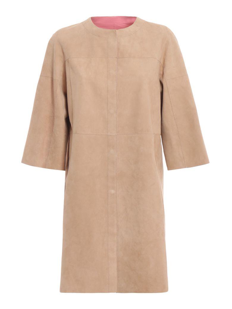 DROMe Drôme Reversible Coat - Pink/camel