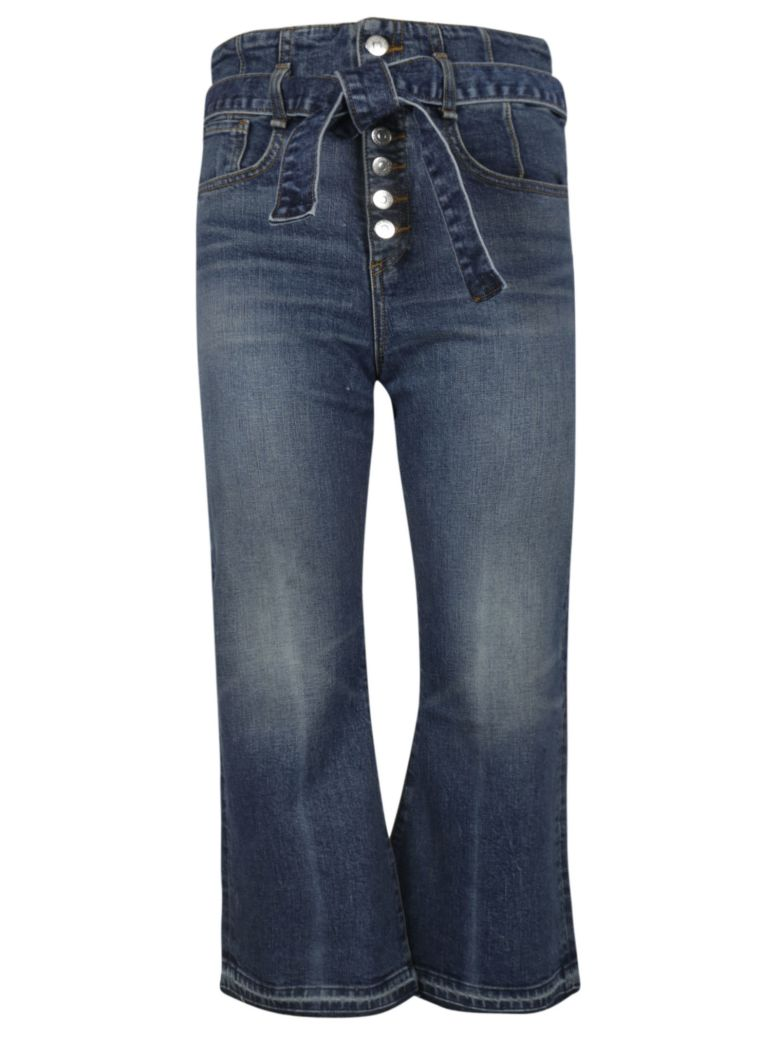 Veronica Beard Cropped Flared Jeans - Blue