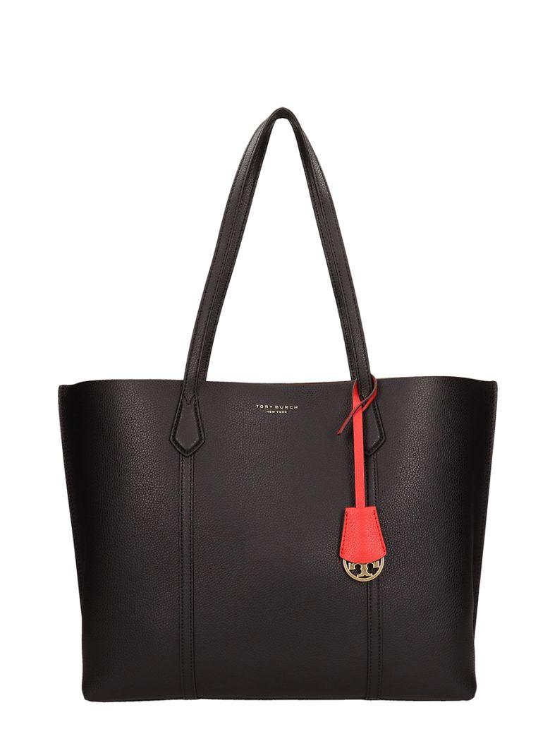 Tory Burch Grey Leather Perry Triple Bag - black