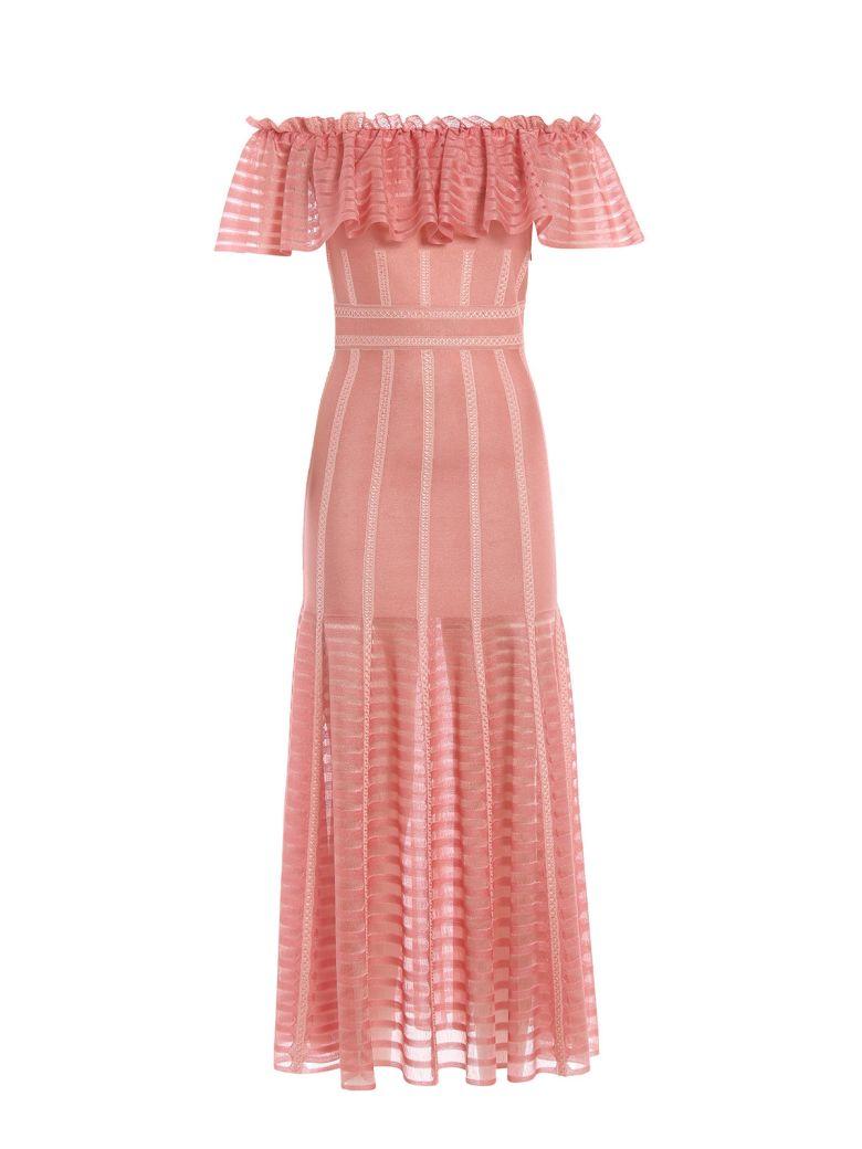 Alexander McQueen Off-shoulder Ruffled Dress - Basic