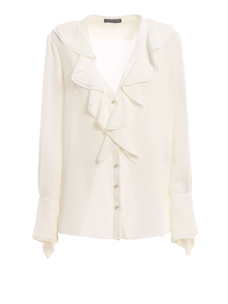 Alexander McQueen Ruffled Blouse - Soft White