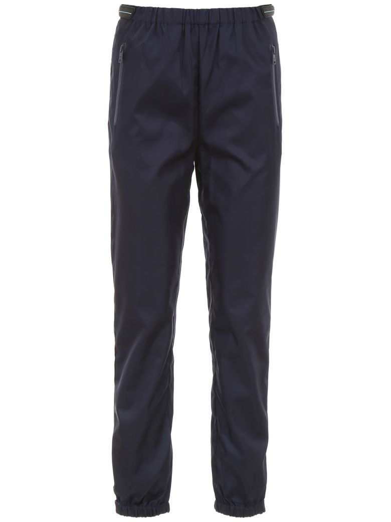 Prada Linea Rossa Trousers With Patches - NAVY (Blue)