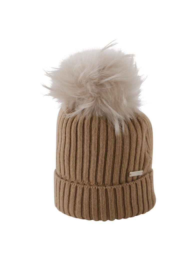 Woolrich Woolrich Fur Pom Pom Hat - CAMEL