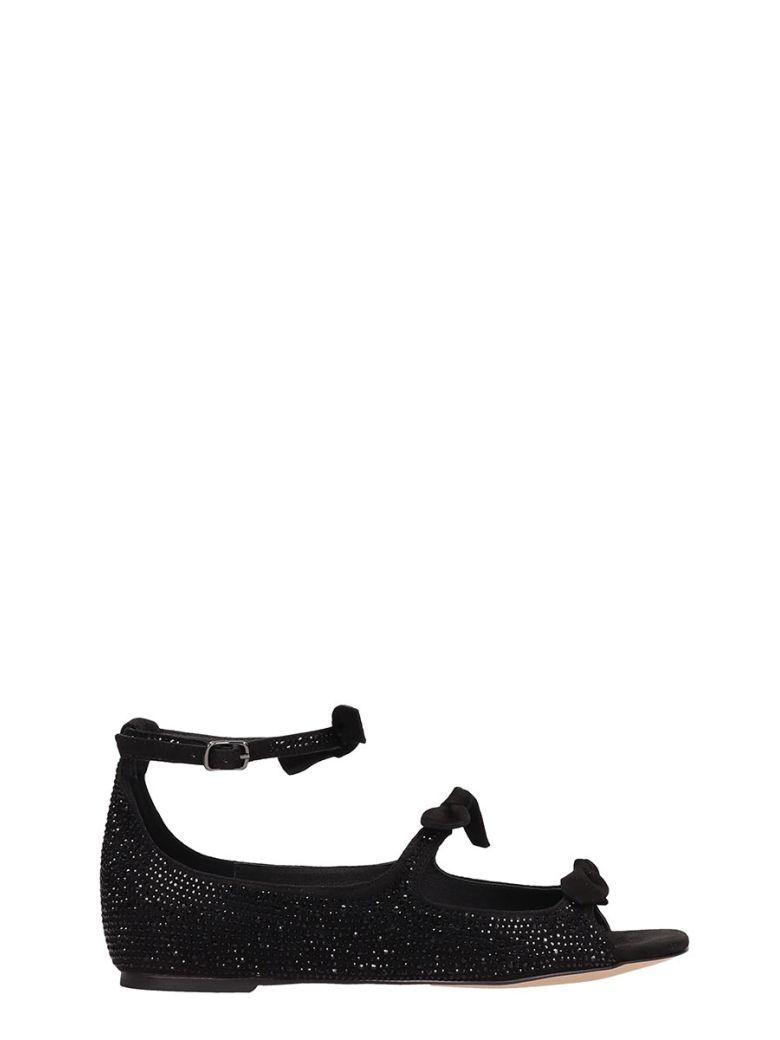 Bibi Lou Black Suede Ballet Flats - Black
