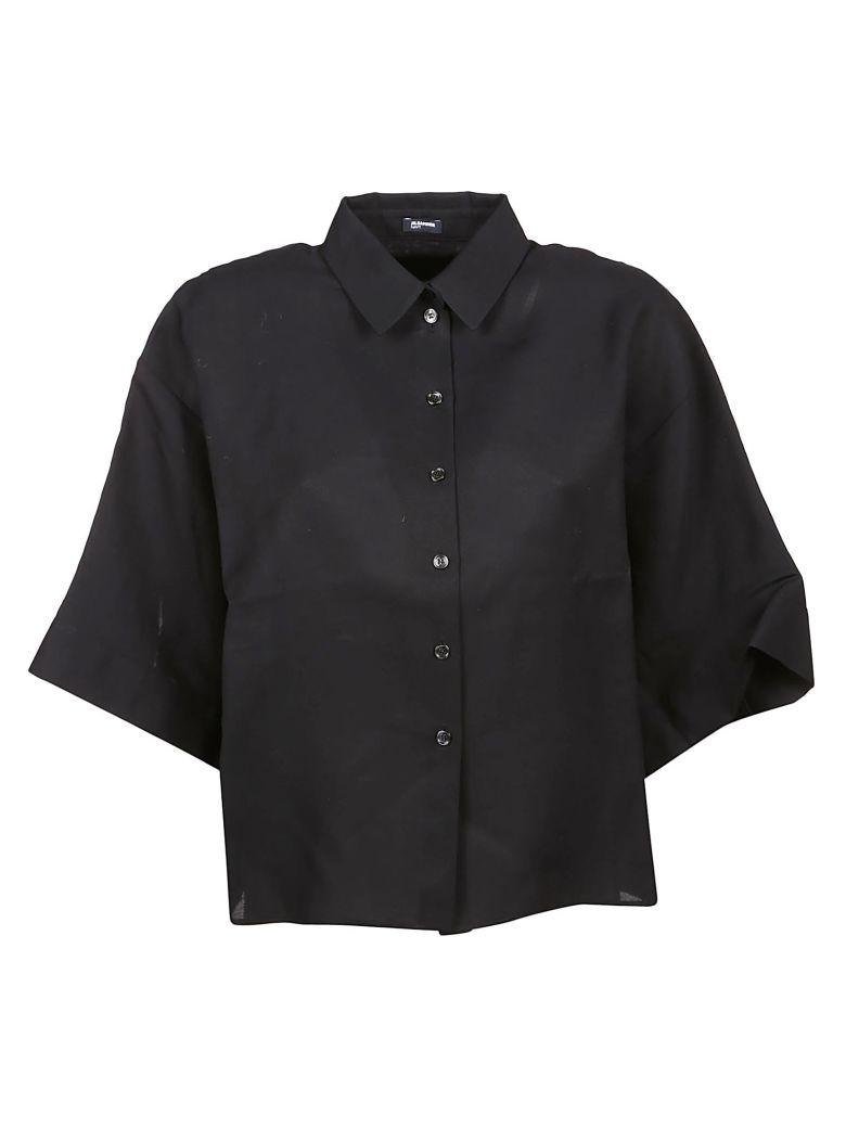 Jil Sander Navy Three Quarter Sleeve Shirt - Basic