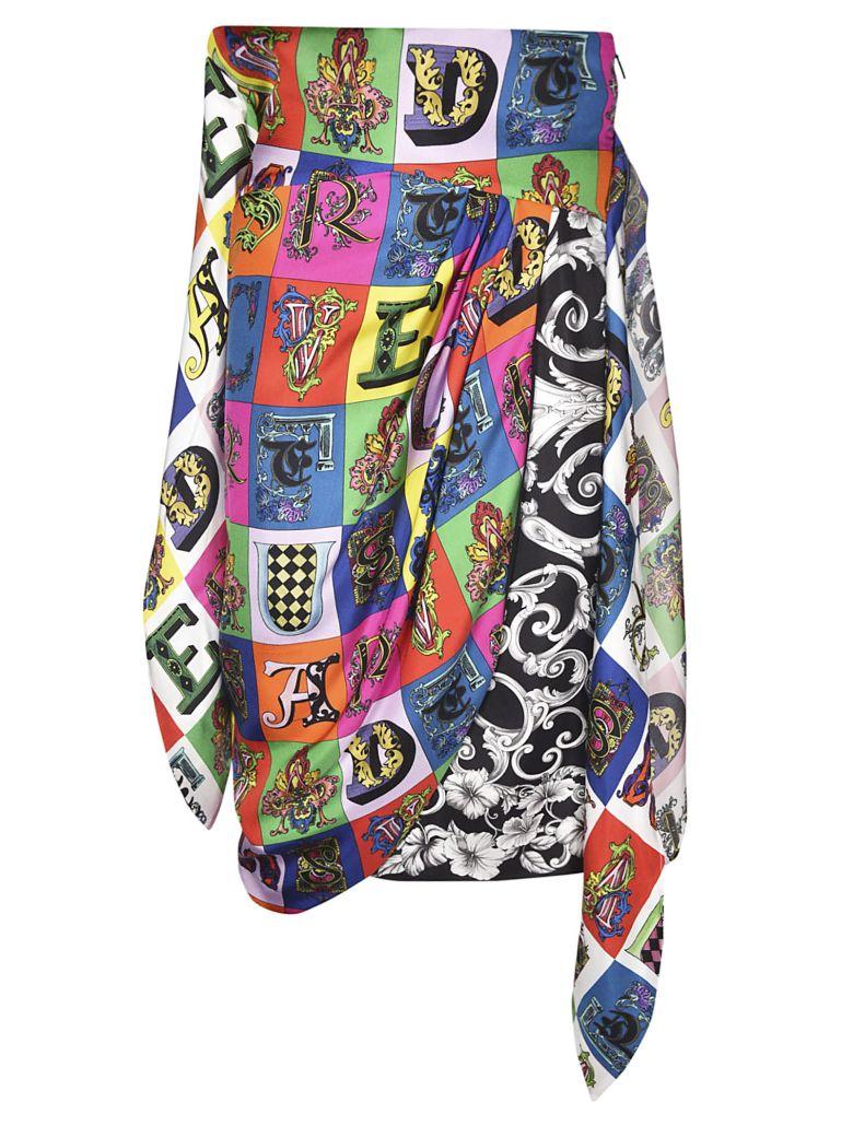 Versace Printed Wrap Skirt
