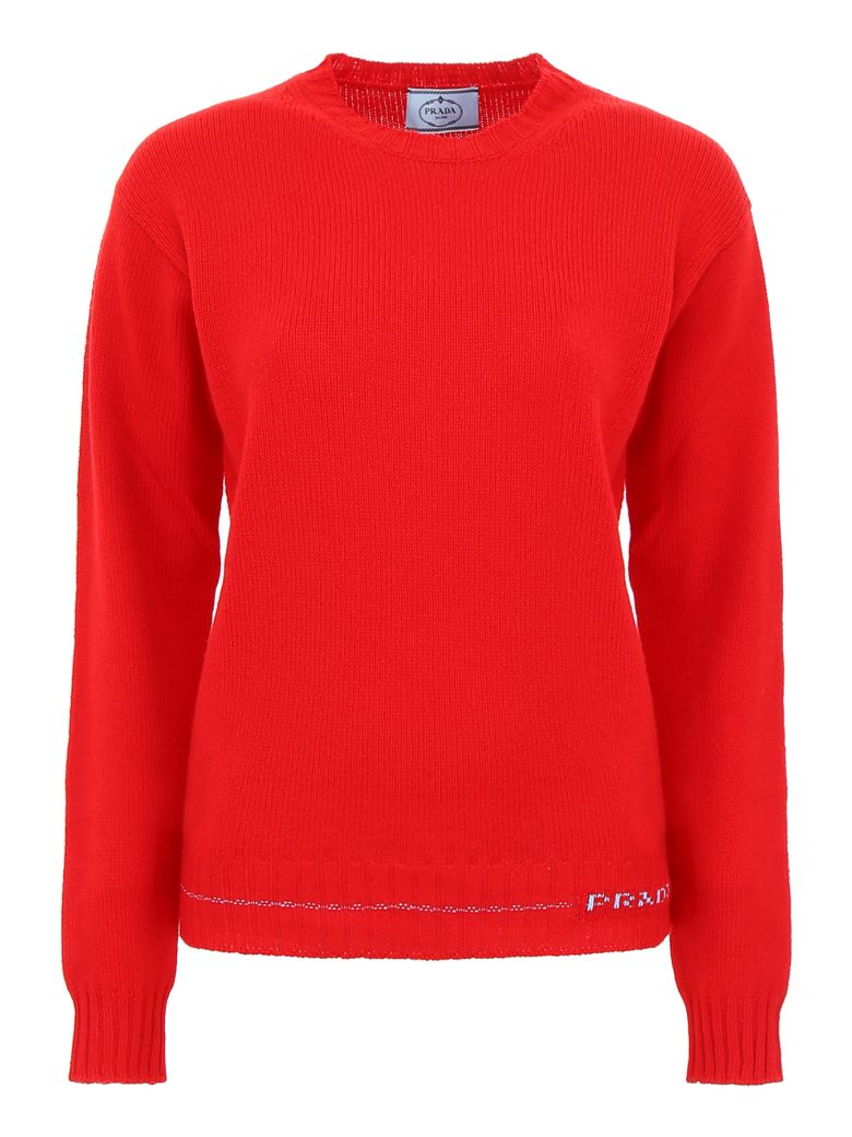 Prada Linea Rossa Cashmere Pullover - ROSSO (Red)