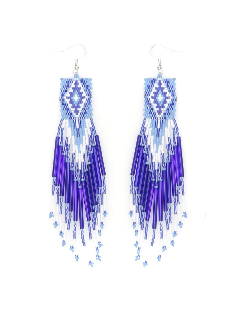Jessie Western Zuni Chandelier Earrings - MULTICOLOR BLUE (Blue)
