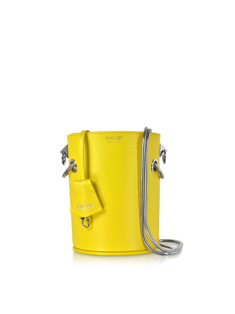 Salar Celia Leather Bucket Bag - Lime