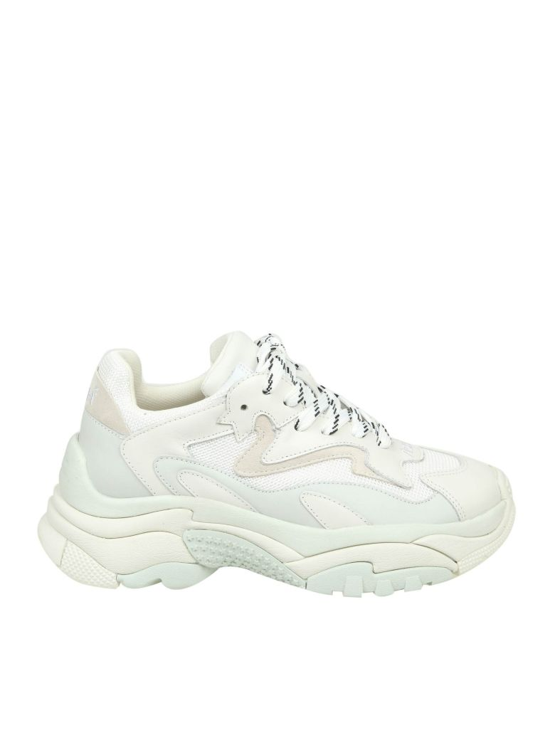 Ash Addict Sneakers In White Leather - Off White