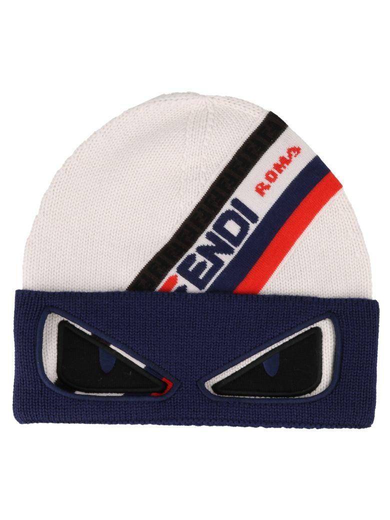 7a50822df0e Fendi Fendi Ff Fendi Roma Knit Hat - White - 10928554