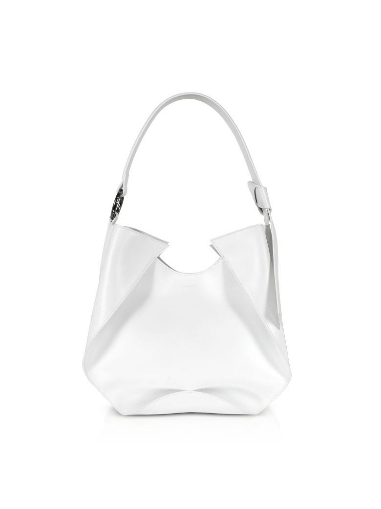 Giaquinto Giselle Leather Shoulder Bag - White