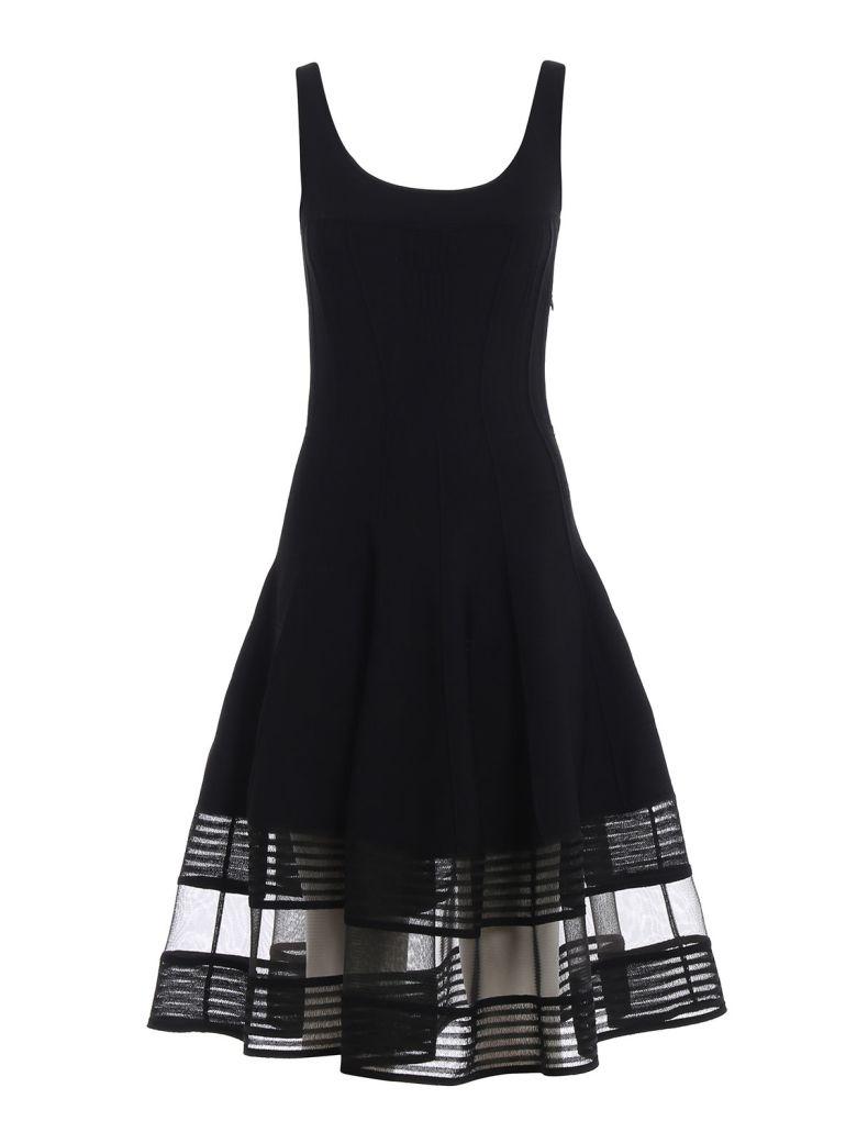 Alexander McQueen Flared Knitted Dress - Black