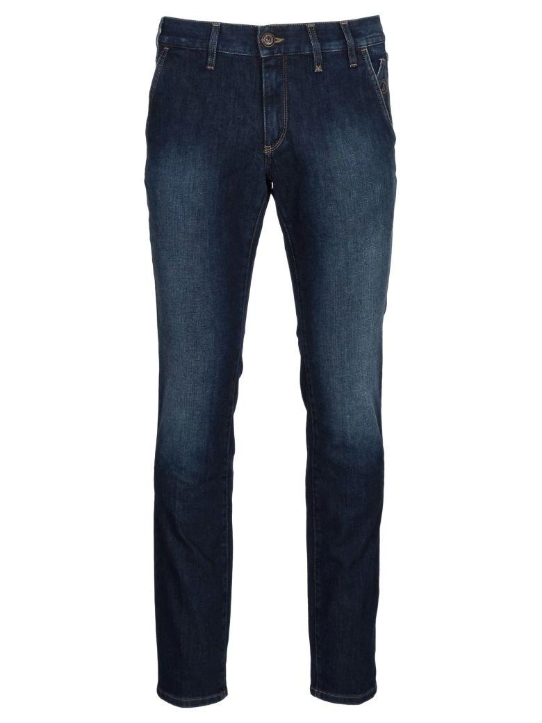 Jeckerson 11 Oz Chino Slim Jeans - Blue-black-sanded