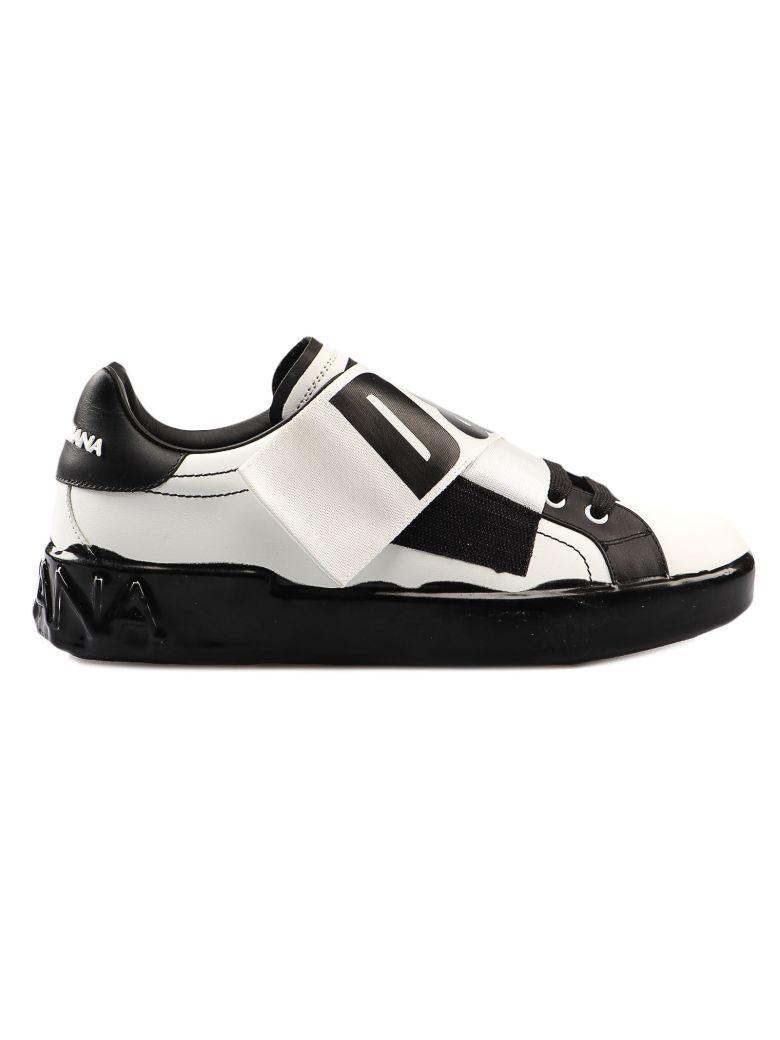 Dolce & Gabbana Logo Strap Sneakers - White/black
