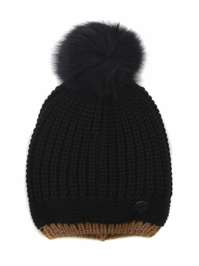 Blauer Logo Patch Beanie - Nero