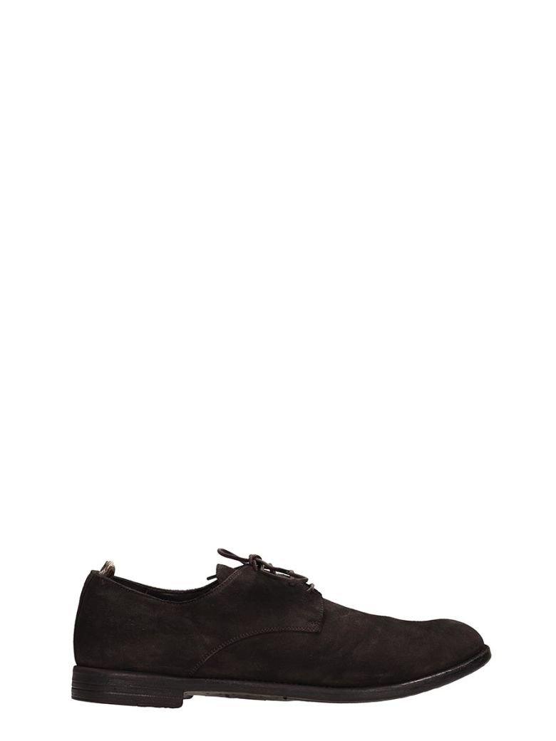 Officine Creative Browne Nabuk Laces Up - Brown