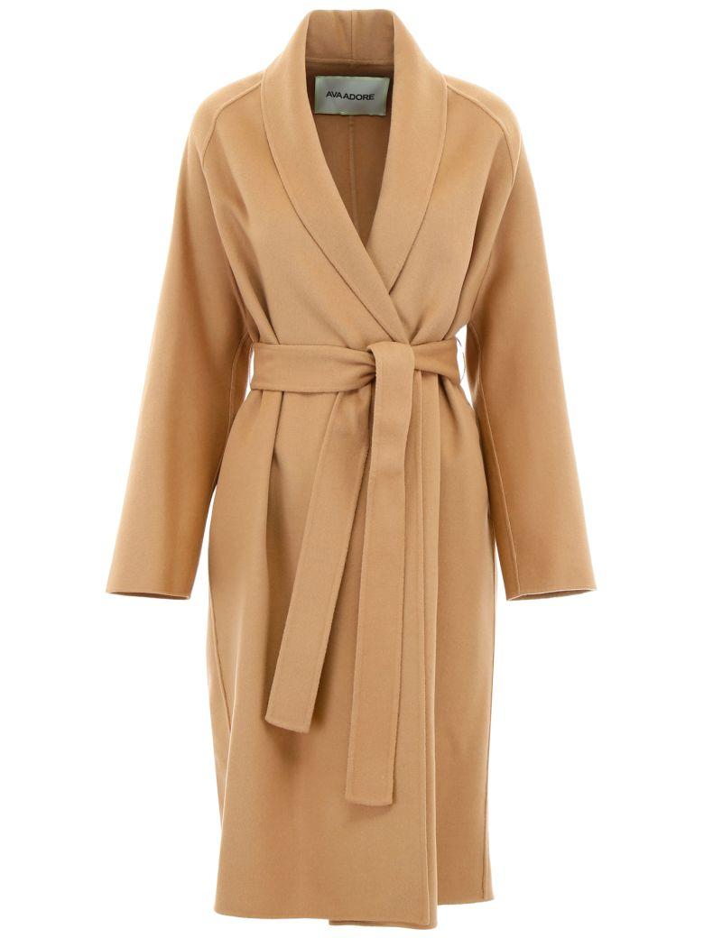 Ava Adore Double Wool Coat - BEIGE (Beige)