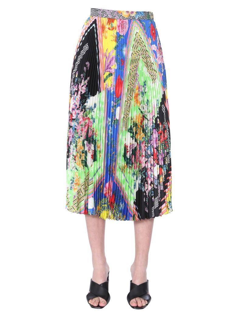 Versace Pleated Midi Skirt - MULTICOLOR